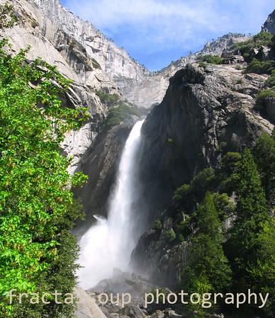 Closeup of Lower Yosemite Falls in May