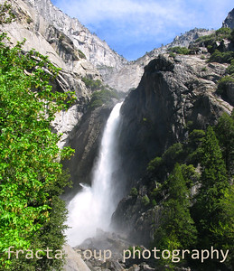 Closeup of Lower Yosemite Falls in May