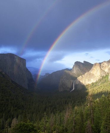 Clearing Storm at Tunnel View with a Double Rainbow.