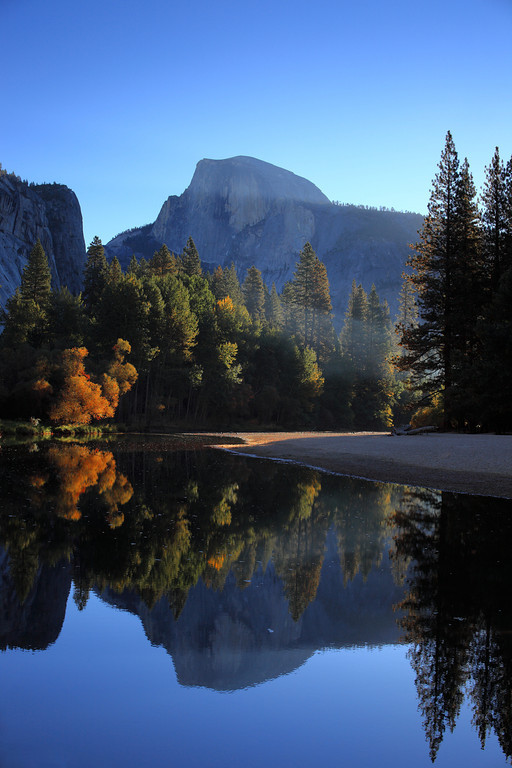 Half Dome Reflection along the Merced