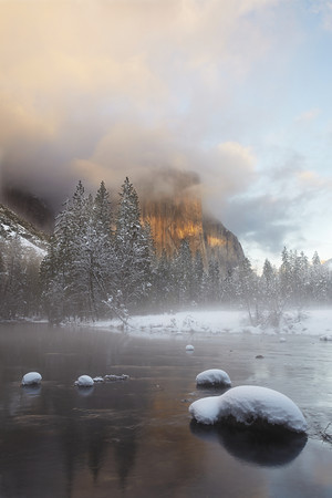 Gates of the Valley El Capitan in Winter