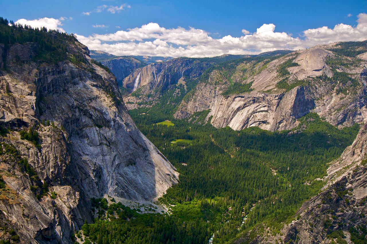 From the Panorama Trail: Glacier Point, Yosemite Falls, Yosemite Valley, Yosemite National Park
