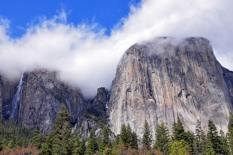 Ribbon Falls, El Capitan, Yosemite Valley, Yosemite National Park