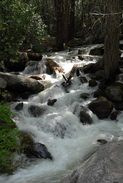 Run-off below Bridal Veil Falls