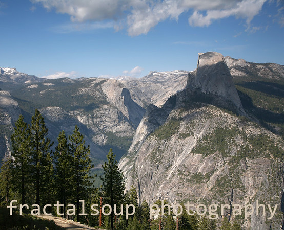 Half Dome majestically above Yosemite Valley from Glacier Point