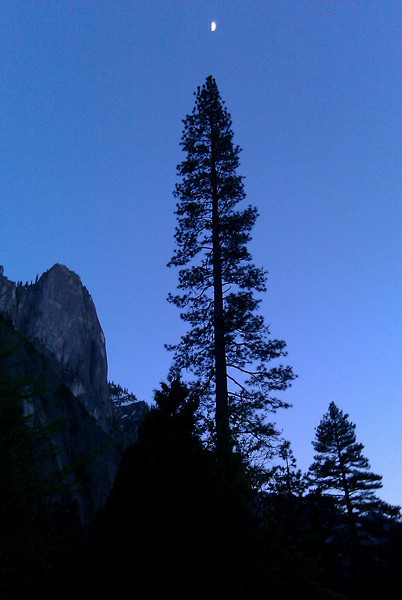 Moon over Yosemite.