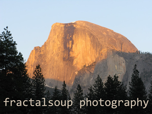 Golden Sunset Light Illuminating Yosemite's Half Dome
