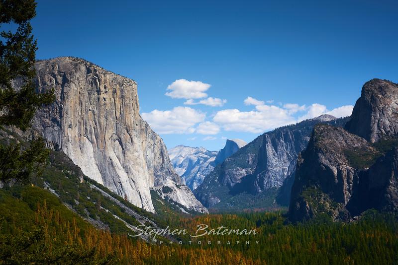 Yosemite Valley, El Capitan to Half Dome