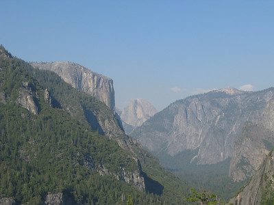 El Capitan and the Half Dome from Inspiration Point