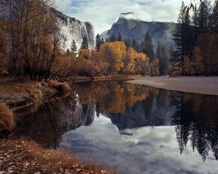 Half Dome Merced Reflection