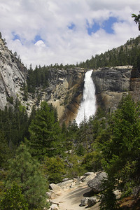 Nevada Falls from John Muir trail