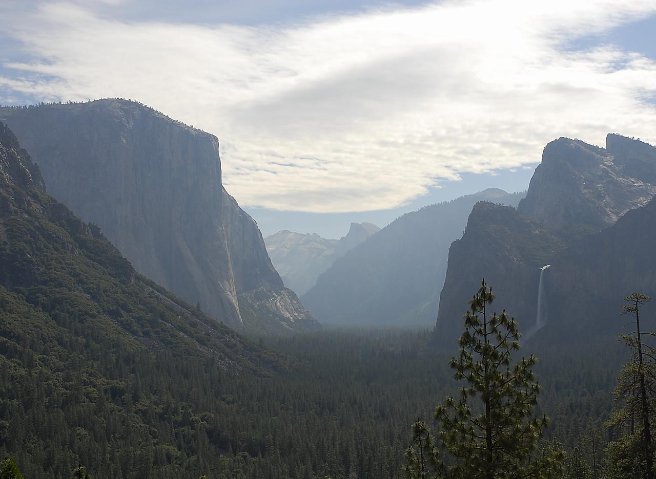 Early Hazy Morning in Yosemite Valley.