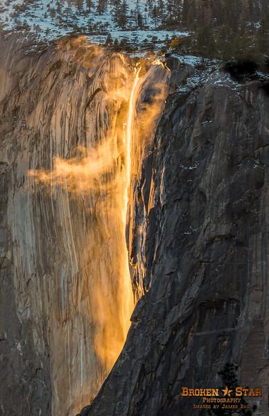 Firefall at Horsetail Falls on El Capitan