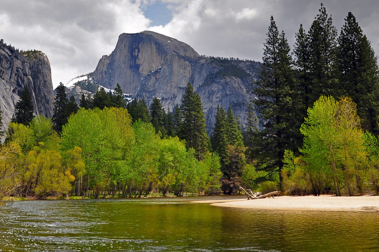Half Dome, from Sentinel Beach, Yosemite Valley, Yosemite National Park