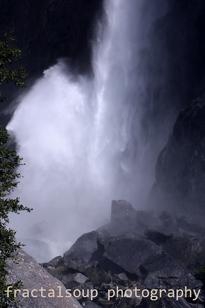 A Waterfall's Silky Mist as it reaches ground