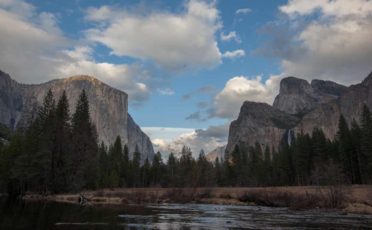 El Capitan & Cathedral Rocks from Valley View