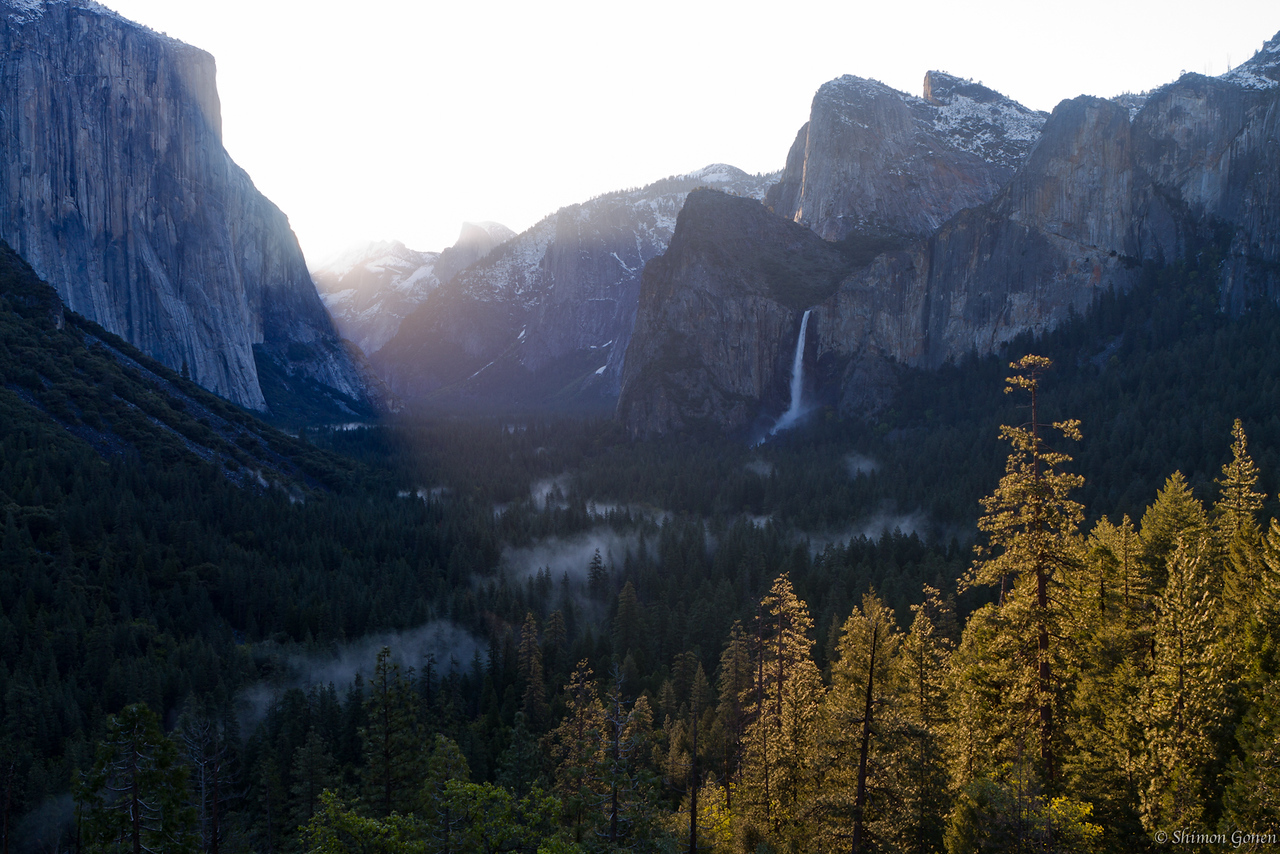 Tunnel View Sunrise - Yosemite