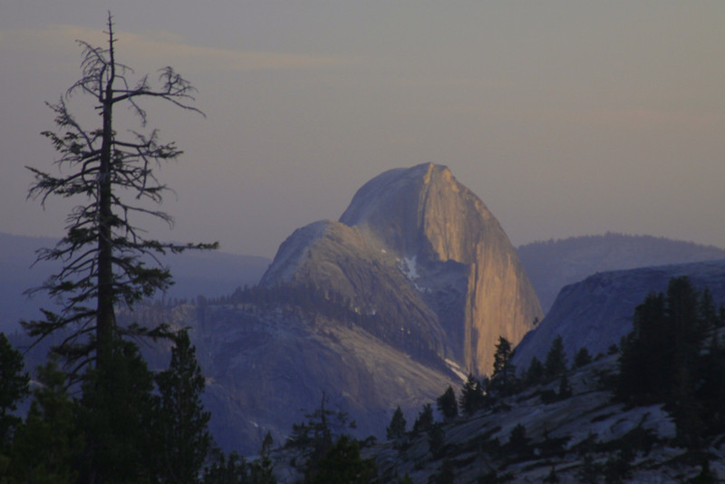 Half Dome from Glacier Point, towards sunset