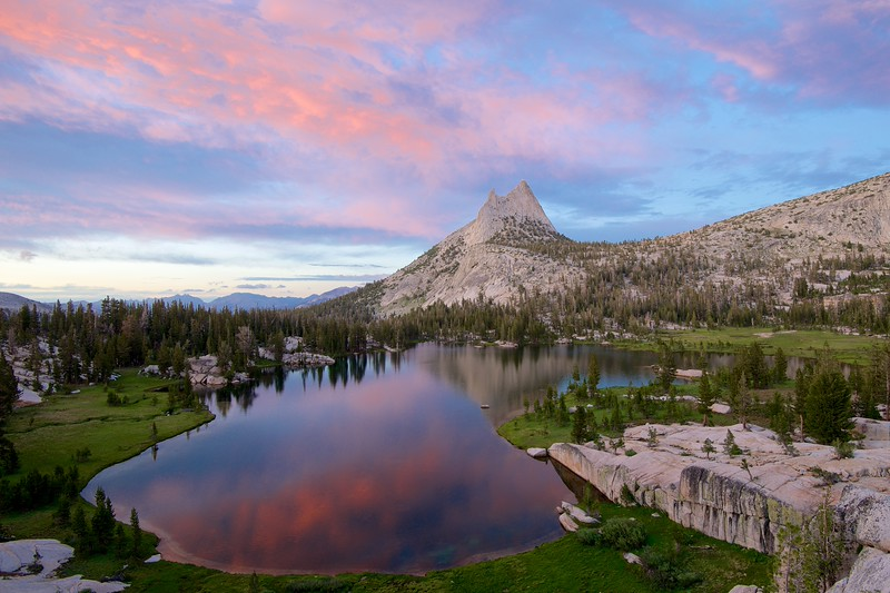 Cathedral Peak, Upper Cathedral Lake, Yosemite National Park