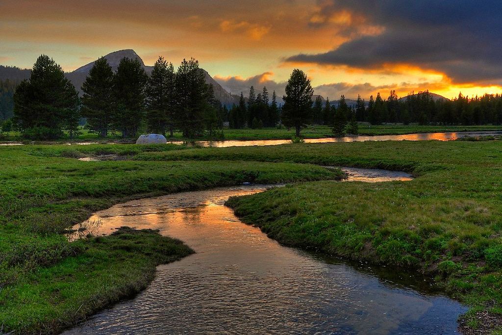 Budd Creek Sunset, Tuolumne Meadows, Yosemite National Park.