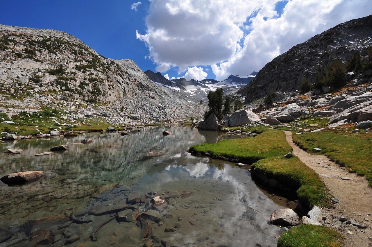 Mt. Lyell, Mt. McClure, Lyell Glacier, near Donahue Pass, Yosemite National Park.