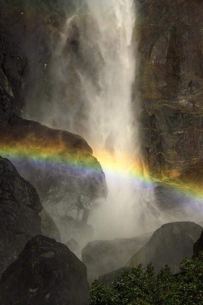 base of Bridal Vail falls.