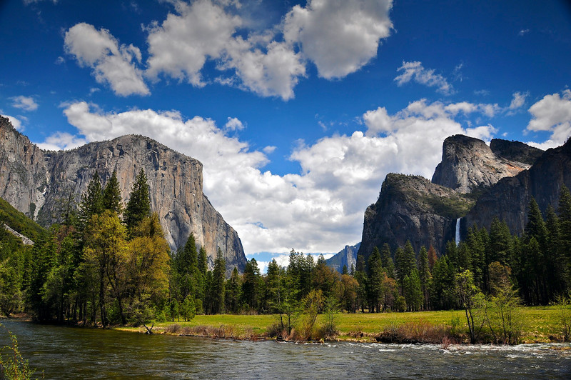 El Capitan, Bridalveil Falls, Valley View, Yosemite National Park