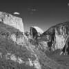 Half Dome and El Capitan in Black and White