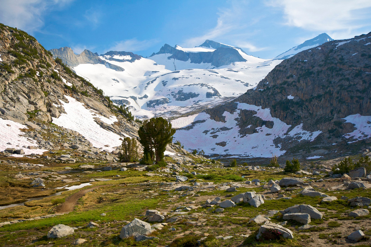 Lyell Cirque, Mt Lyell, Lyell Glacier, and Mt. McClure, near Donohue Pass, Yosemite National Park
