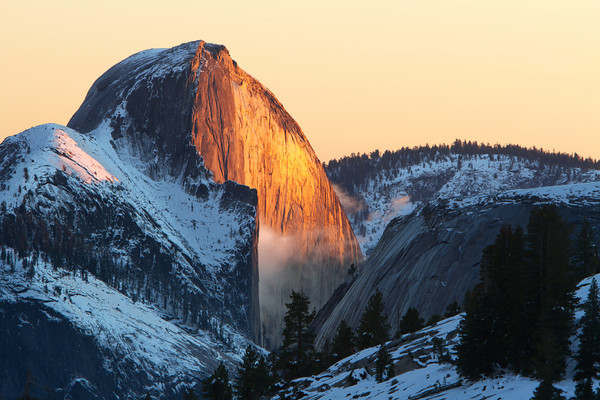 Last Light On Half Dome from Olmsted Point.
