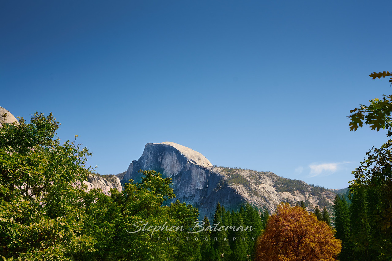 Half Dome from Yosemite Village