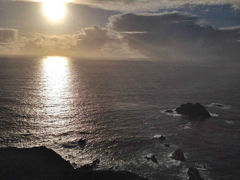 Beautiful Ocean View as the Sun Begins to Set in Big Sur