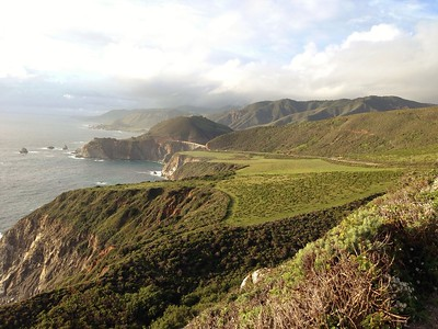 Lush Landscape Along Highway 1 in Big Sur