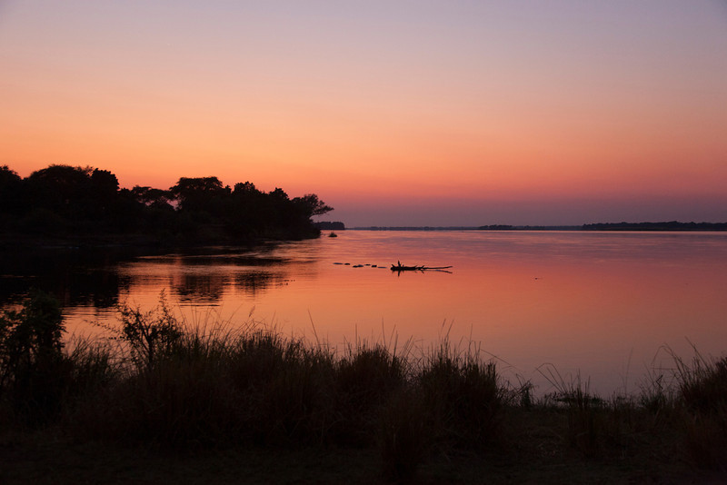 Sunrise over Zambezi River