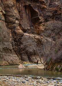 The hike was characterized by constant river crossings as land patches switched sides with each river bend.