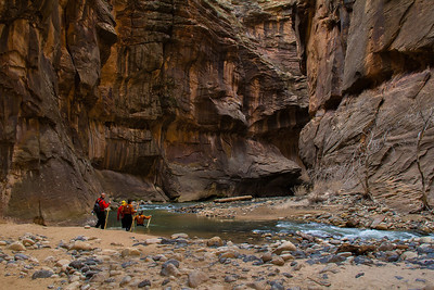 The canyon walls took on some character here in this tight turn. Probably a wicked place in a flood.