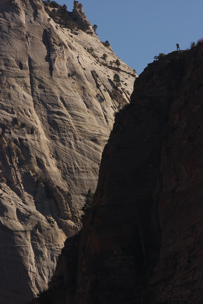 Bill Heerman took three pictures of me on Angels landing.  This is 2 of 3 (a wider view).