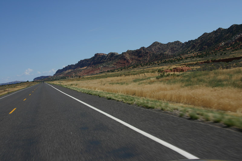 On the way to Zion from the Grand Canyon Highhway 89 through Arizona