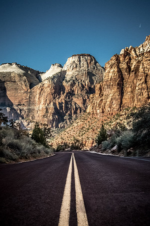 Road to Zion. Zion National Park, Utah