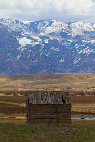Storage shed on the road back to Salt Lake City.