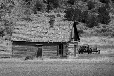 An old farm house adds diversion to the drive back from Bryce Canyon to Salt Lake City, Utah.