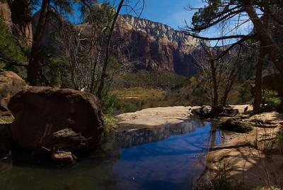 Middle Emerald Pool, Zion National Park, March 2013.