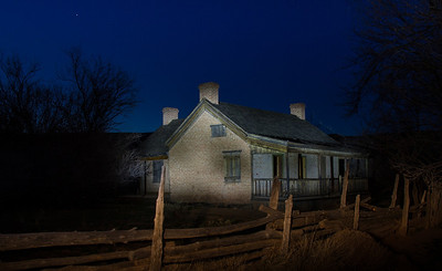 A time exposure of an abandoned house in Grafton Ghost Town, west of Springdale, Utah.