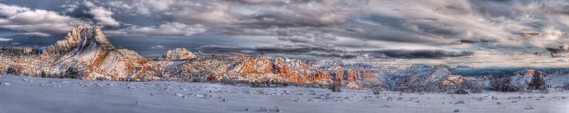 Kolob Winter Wonderland<br /> <br /> Along Kolob Terrace road, a frozen sunset along the backside of the canyon<br /> Zion National Park, Utah, USA