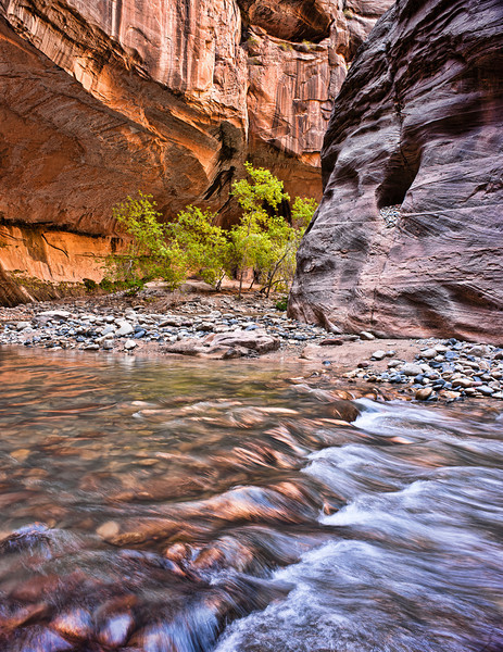 Rock Hole?<br /> <br /> A hole full of river rocks above the Zion Narrows of the Virgin River<br /> Zion National Park, Utah, USA