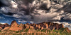 Finger Storm<br /> <br /> A Summer monsoon storm dumps heavy rain onto the finger-canyons of Kolob Canyons<br /> Zion National Park, Utah, USA