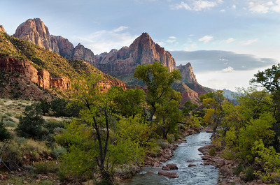 The Virgin River (and Pine Creek) have cut the spectacular canyon. (3rd, Travel Print, N4C Jan 2012)