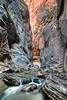 Deep In The Narrows<br /> <br /> Deep into the Narrows, one can come to walls that are over 1000 feet tall!<br /> Zion National Park, Utah, USA