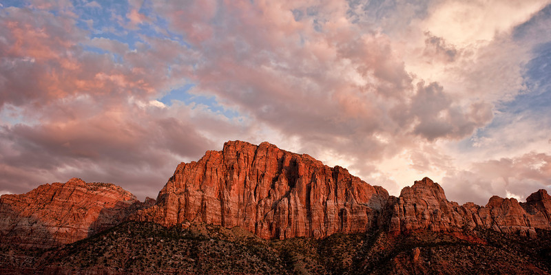 Watchman Sunset II<br /> <br /> Last light on the Watchman<br /> Springdale, Utah, USA