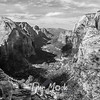 1666  G Angels Landing View South BW
